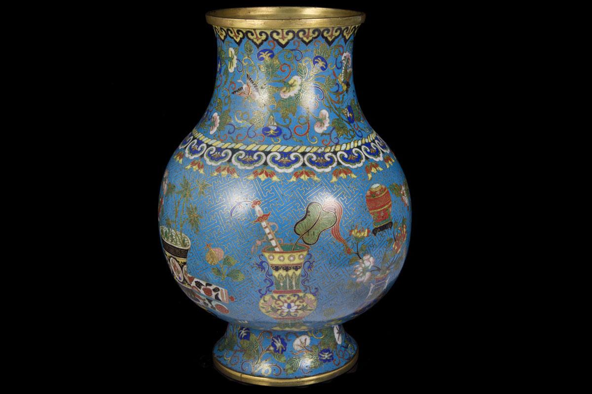 Qianlong Chinese Cloisonne Vase