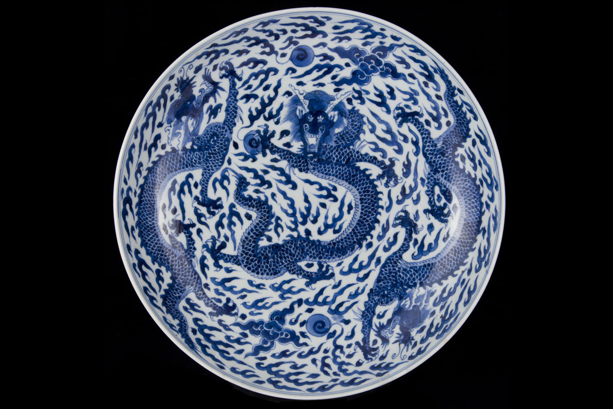 Antique Chinese taste blue and white porcelain, Ming and ...