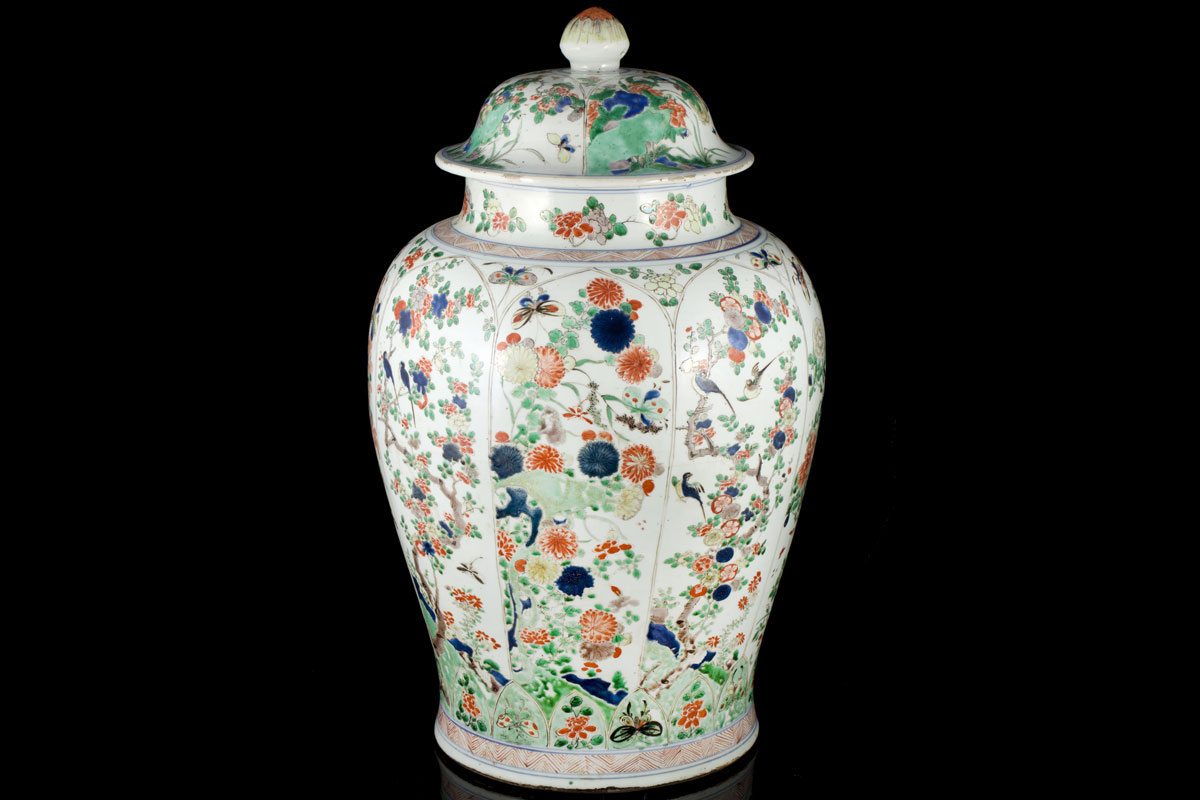 Antique chinese export famille verte and rose porcelain ming and a large kangxi famille verte vase and cover reviewsmspy